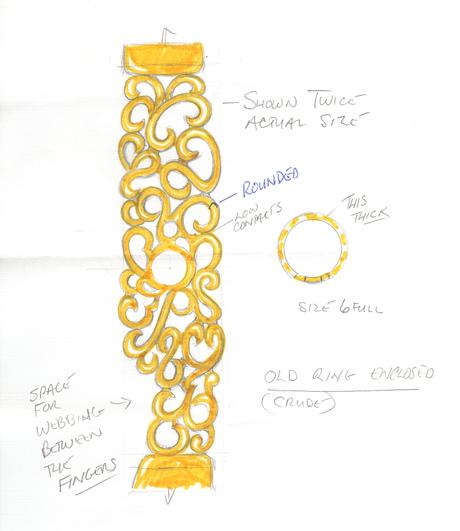 Gold Bracelet Sketch