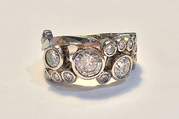 Deanna Diamond Ring by Catherine Dining CG Designs