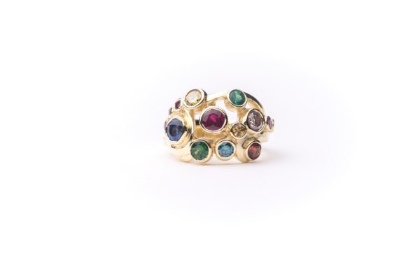 Rainbow Bubble Ring by Catherine Dining CG Designs