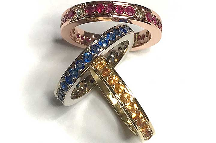 Pave Colored RIngs